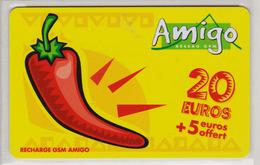 Antilles Françaises Recharge GMS Amigo 20 Euros 2 Scans N° 13 - Antilles (Françaises)
