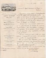 1878 UZES - SUCS & BOIS De RÉGLISSE - Louis CAUSSE - à L'Agent Consulaire De France à CATANE (Italie) - Historical Documents