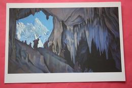 "Nicholas Roerich - ""Underground People""   HIMALAYA - Old USSR PC 1990s - Big Size . - Tibet"
