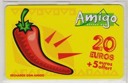 Antilles Françaises Recharge GMS Amigo 20 Euros 2 Scans N° 14 - Antilles (Françaises)