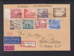 Dt. Reich Flugpostbrief 1940 Leipzig Nach Bari Italien - Briefe U. Dokumente