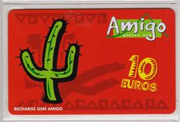 Antilles Françaises Recharge GMS Amigo 10 Euros 2 Scans N° 15 - Antillen (Frans)