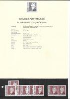 1673x: Österreich 1979, Jodok Fink, Schwarzdruck+ Marken **/o - Plaatfouten & Curiosa