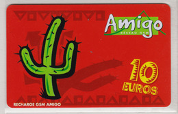 Antilles Françaises Recharge GMS Amigo 10 Euros 2 Scans N° 16 - Antilles (Françaises)