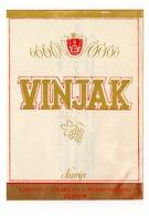 SERBIA, YUGOSLAVIA 1970S, BEOGRAD, LABEL FOR ALCOHOLIC DRINK, VINJAK, NAVIP, ZEMUN, KOGNAC - Advertising