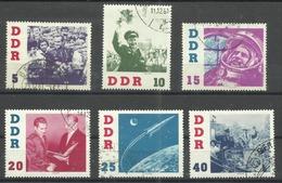 """DDR 863-868  """" Besuch Des Kosmonauten German Titow, Satz Kpl."""" Gestempelt. Mi 15,00 - DDR"""