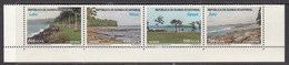 2013 Equatorial Guinea Beaches Coast  Complete Strip Of 4 MNH - Äquatorial-Guinea