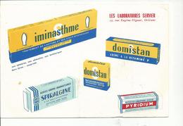 BUVARD .publicité LABORATOIRES SERVIER - Produits Pharmaceutiques