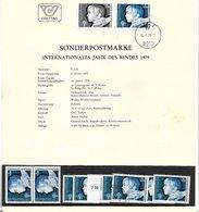 1673h: Österreich 1979, Jahr Des Kindes, Schwarzdruck+ Marken **/o - Kindertijd & Jeugd