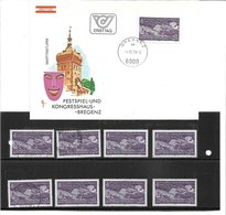 1673o: Österreich 1979, Kongreßhaus Bregenz, Schwarzdruck+ Belege+ Marken **/o 2 Scans - Bregenz