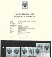 1673y: Österreich 1979, 700 Jahre Stadt Rottenmann, Schwarzdruck+ Marken **/o - Rottenmann