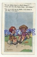 """Deux Enfants Sur La Plage. Cigarettes """"Moi Je Ne Crois Pas ... """" Donald Mc Gill. 1925 - Mc Gill, Donald"""