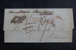 GRECE - Lettre De Porto Castello Pour La France En 1836, Acheminée Par Devaux Et Cie De Londres - L 42086 - ...-1861 Prephilately