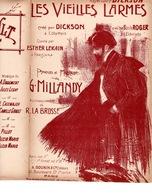 CAF CONC DICKSON LEKAIN PARTITION LES VIEILLES LARMES GEORGES MILLANDY LA BROSSE ILL DOLA V1 - Musique & Instruments