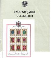 1673c: Österreich 1976, Block 1000 Jahre Österreich Im 23- Seitigen Staatsdruckerei- Folder - Plaatfouten & Curiosa