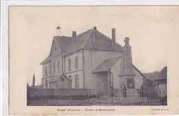Cpa-19-ussel (planeze)-pas Sur Delc.-ecoles-monument Aux Morts 14/18-edi Queille - Ussel