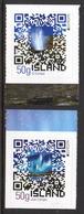 Island Islande 1288/89 Europa, Geyser, Aurore Boréale , Code QR - 2012
