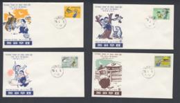 First Day Cover Spd South Corea - Corea Del Sur - Yvert 570/573 Year 1970 - Postmark - Korea (Zuid)