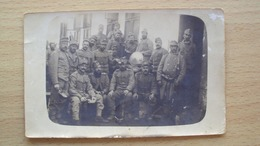 AUSTRIA ÖSTERREICH UNGHERIA HONGRIE CARTOLINA CON FOTO DI MILITARI AUSTRIACI O UNGHERESI FELDPOST TABORI POSTA TRIESTE - Austria