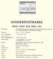 1673j: Österreich 1981, Wipa 1. Phase, Schwarzdruck+ Beleg+ Marken **/o, 2 Scans, Sehr Hoher Postpreis - 1945-.... 2de Republiek
