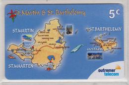 Antilles Française Outremer Télécom 5 Euros N° 42 2 Scans - Antillen (Frans)