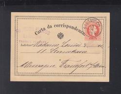 KuK Levante GSK Salonico Nach Frankfurt Am Main - 1850-1918 Imperium
