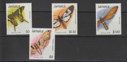 Jamaique 1991 Papillons Série 786-89 4 Val ** MNH - Schmetterlinge