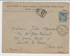 1er JANVIER 1900 / LSC De Philippeville / Constantine + BM Encadré Pour Déville Les Rouen TB - Marcophilie (Lettres)