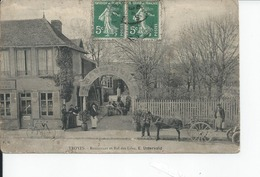 TROYES   Restaurant Et Bal Des Lilas 1910 Carte Moy - Troyes