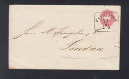Kuk Umschlag 1867 Feldkirch Nach Lindau - Briefe U. Dokumente