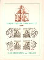 Vrijmetselarij, Franc-Maçonnerie,150 Jaar Grootoosten Van België, 150 Ans Grand Orient De Belgique, Speciale Uitgave!!!! - Cartas Commemorativas