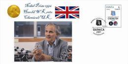 Spain 2013 - Nobel Prize 1996 Chemical - Harold W.Kroto/U.K. Special Cover - Premio Nobel