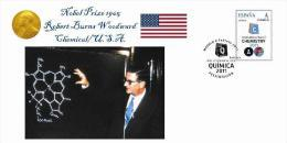 Spain 2015 - Nobel Prize 1965 Chemical - Robert Burns Woodward/United States Special Cover - Premio Nobel