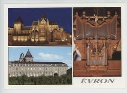 Evron (Mayenne) La Basilique Communauté Des Soeurs De La Charité : Buffet D'Orgue Fin XVIè S. (cp Vierge) - Evron