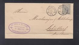 Niederlande Brief 1894 Wormerveer Nach Schüttorf - Periode 1891-1948 (Wilhelmina)