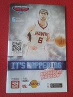 GUÍA PROGRAMA REVISTA O SIMILAR ATLANTA HAWKS LOS ANGELES LAKERS USA NBA BALONCESTO USA BASKET BALL BASKETBALL. PHILIPS. - Deportes