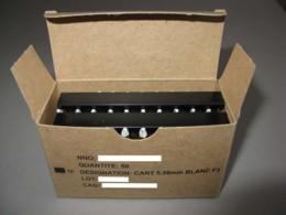 Boite Complète De 50 Cartouches 5.56 Mm à Blanc Modèle F3 Sur Lame Chargeur - Decorative Weapons