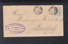 Niederlande Brief 1895 Wormerveer Nach Schüttorf - Briefe U. Dokumente