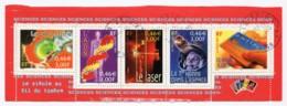"""Bande Du Bloc Feuillet YT BF39 2001 - Le Siècle Au Fil Du Timbre """"Science"""" Avec Oblitérations Du 3 Décembre 2001 - Sheetlets"""