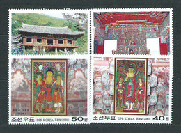 Corea Del Norte - Correo 2003 Yvert 3248/51 ** Mnh  Tempo De Ryangchon - Korea, North