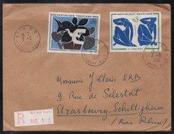 LYON / 1962 LETTRE RECOMMANDEE POUR STRASBOURG (ref 7797) - France
