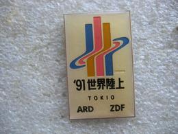 Pin's Réception Des Chaines De Télévision  ARD Et ZDF à TOKIO - Medias