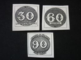 Brazil, 1943 Centenary Of The First Postage Stamp Of Brazil Scott #609-611 MNH Cv. 2,25$ - Nuovi