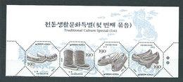 Corea Del Sur - Correo 2003 Yvert 2147/50 ** Mnh  Zapatos Tradicionales - Corea Del Sur