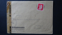 Germany - 1942 - Mi:DR 827, Sn:DE 511B, Yt:DR 710B On Envelope - Military Crnsorship - 4.4.45 - Look Scan - Lettres & Documents
