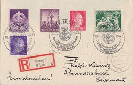 DR R-Brief Mif Minr.785,788,817,818,819 SST Hanau 18.10.42 Gel. In Steiermark - Germany
