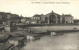 CPA NANTES Le Gare D'ORLÉANS Qual De Richebourg (150637) - Nantes