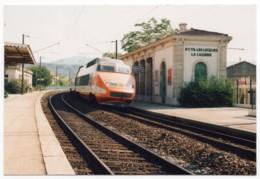 TGV Sud-Est En Gare De Saint-Cyr Les Lècques Cadières (Var, 83) - Tirage Limité N°45/100 Exemplaires - Saint-Cyr-sur-Mer