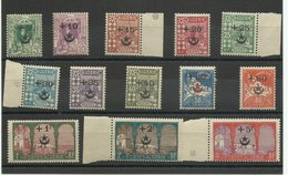 Algérie : Série 58/ 70 Neufs ** MNH, Cote YT 119€ 60 Pour Les Soldats Blessés Au Maroc - Neufs