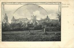 BAD BENTHEIM, Panorama (1899) AK - Bentheim